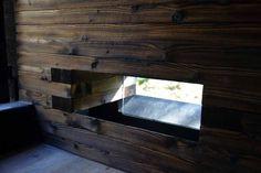 Sauna Savu - a Wooden High-Quality Product from Finland. Sauna Design, Saunas, Tiny Homes, Bad, Finland, Stove, Wellness, Windows, Building