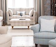 stripey armchair L Ashley