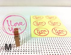 42 I love You Transparent Clear Label by MyElevenEleven on Etsy, $2.90