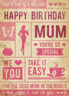 <3 An amazing birthday card <3 (Her birthday is the same month as Mother's Day). Expensive but she's worth it! #MySphereOfLife #MothersDay