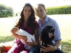 We Love that William & Kate included their pup Lupo in George's first family portrait!
