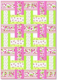 Sweet Pea Sweet Weave - strip quilt patterns