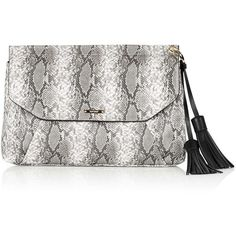TOPSHOP Tassel Envelope Clutch ($38) ❤ liked on Polyvore featuring bags, handbags, clutches, natural, tassel purse, white purse, tassel handbag, white envelope clutch bag and topshop handbags