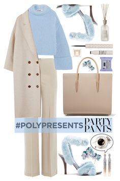 """""""#PolyPresents: Fancy Pants"""" by violet-peach ❤ liked on Polyvore featuring Theory, Jil Sander, Valentino, Christian Louboutin, Oscar de la Renta, Topshop, Givenchy, Culti, contestentry and polyPresents"""