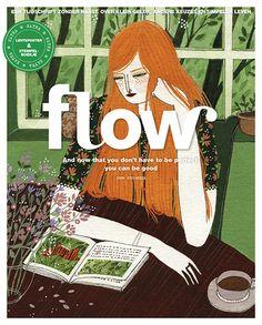 een prachtige illustratie van Yelena Bryksenkova op de cover van Flow 2 2016.
