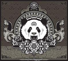 Panda art Panda Love, Cute Panda, Character Illustration, Illustration Art, Illustrations, Panda Art, Panda Panda, Cartoon Panda, Adult Fun