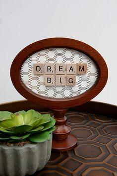 dream big scrabble frame