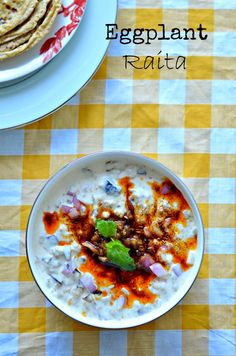 Baingan ka Raita :: Brinjal in curd raita :: Eggplant yogurt dip :: Aubergine with yoghurt – The Veggie Indian