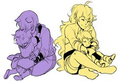 Yang and Blake with their Bumblebabies! AHHHHH I CAN'T DEAL WITH THIS