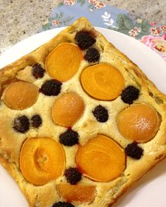 Easiest Ever Apricot, Blackberry And Frangipane Tart.