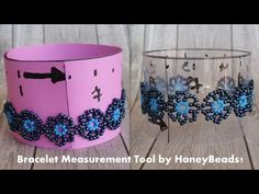 Project of the day: A Bracelet Measurement Tool! Materials list: Sturdy paper or a plastic sheet of at least 10 inch Scissor Permanent marker with a fine ti. Jewelry Tools, Diy Jewelry, Beaded Jewelry, Jewelry Making, Satin Ribbon Flowers, Beaded Bracelets Tutorial, Simple Bracelets, Beading Techniques, Make Your Own Jewelry