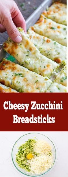 Cheesy Zucchini Breadsticks - Momsdish Cheesy Zucchini Breadsticks - Momsdish Craving cheesy bread, but you're on a low-carb or keto diet? My recipe for Cheesy Zucchini Bread hits the spot without compromising good nutrition. Low Carb Recipes, Diet Recipes, Cooking Recipes, My Recipes, Low Carb Zuchinni Recipes, Vegetarian Zucchini Recipes, Smoothie Recipes, Bread Recipes, Zucchini Dinner Recipes