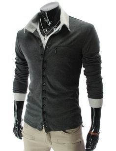 TheLees (GD62) Mens Casual Slim Fit 2 Tone Button Cardigan TheLees, http://www.amazon.com/dp/B0098V4JX6/ref=cm_sw_r_pi_dp_.ZOSqb1K1830H