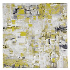 A vibrant canvas blending crisp lemon with soft greys. Light In The Window, $449.95 #ZGallerie