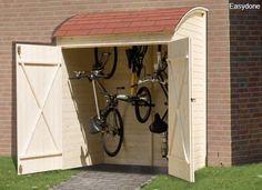 Houten fietsenberging