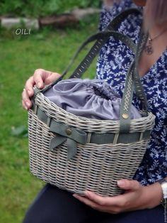 """Купить сумка -корзинка """"Ладушка"""" - комбинированный, сумка корзинка, авторская работа, корзина, плетение, мода"""