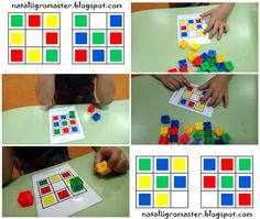 Multicubes / Cubes encastrables Math For Kids, Games For Kids, Activities For Kids, Visual Perceptual Activities, Sorting Activities, Cubes Math, I Love Math, School Clipart, Worksheets For Kids