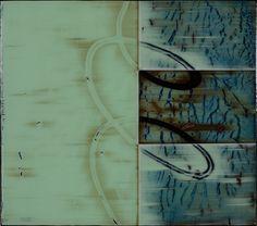 "Philter V  Acrylic on Panel  17 x 17"""