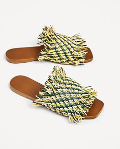 MULTICOLORED FLAT BRAIDED SLIDES-SHOES-WOMAN | ZARA United States