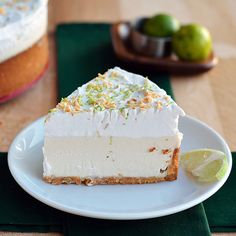 Paleo Key Lime Cheesecake - refreshingly tart and a little sweet from Florida. Paleo and Vegan version of a Key Lime Cheesecake