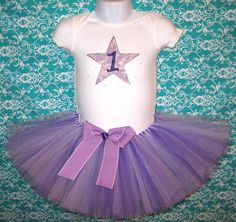 Birthday Star Tutu Outfit... Twinkle, Twinkle Little Star Tutu Set and Matching Headband...Other Colors Available