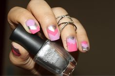 Single Chevron nail tutorial