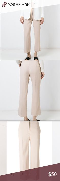 Agnona Crop Pants Gorgeous camel colored straight leg crop pants, great quality, excellent condition, the sizing tag has been removed but the waist is 28 inches and inseam 27 inches Agnona Pants Ankle & Cropped