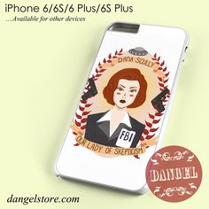 Agent Dana Scully art Phone case for iPhone 6/6s/6 Plus/6S plus