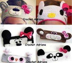 45 Ideas crochet gorros personajes for 2019 Crochet Crafts, Crochet Toys, Crochet Projects, Knit Crochet, Crochet Headband Pattern, Knitted Headband, Crochet Patterns, Crochet Hair Accessories, Crochet Hair Styles