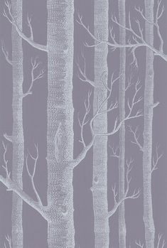 Woods Lilac / Charcoal wallpaper by Cole & Son