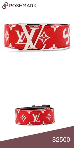 b9d351cde120 Supreme Louis Vuitton Belt Brand New never worn Louis Vuitton X Supreme Belt.  No box because it was badly damaged. Price is negotiable.