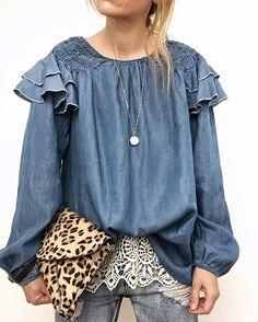 Denim style Hippie Bohemian, Hippie Style, Boho, My Style, Funky Fashion, Denim Fashion, Lady M, Denim Style, Mori Girl