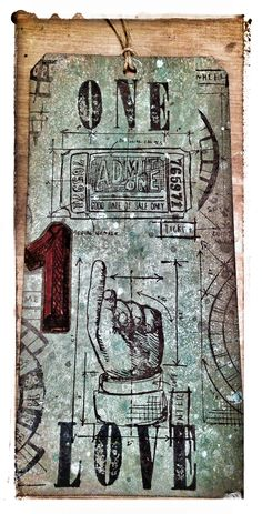 Tim Holtz inspired tag! # Distress Paints