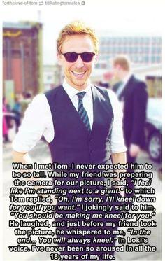 Tom Hiddleston, ladies;)