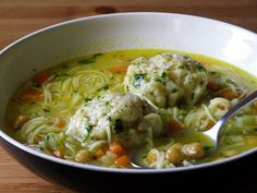 maple•spice: Chickpea Noodle Soup with Herb Dumplings