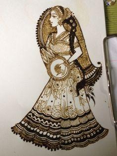 Lady playing dholak