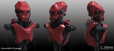 Drone MXR-23 concept, Chris Rena on ArtStation at https://www.artstation.com/artwork/RN1Ry
