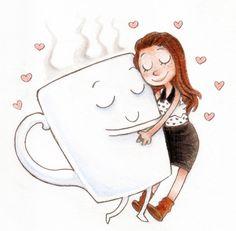 coffee ♥ my best friend! Happy Coffee, Good Morning Coffee, Coffee Talk, I Love Coffee, Best Coffee, Coffee Break, My Coffee, Coffee Drinks, Coffee Cups