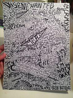 My Chemical Romance original lyric collage PRINT by howellwhore, $4.00