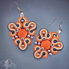 soutache earrings   author: Zuzana Hampelova Valesova (Lillian Bann)   www.z-art-eshop.cz   http://www.facebook.com/pages/Z-ART/539656212733510