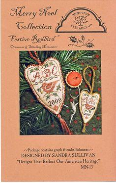 Festive Red Bird Ornament • 1/2