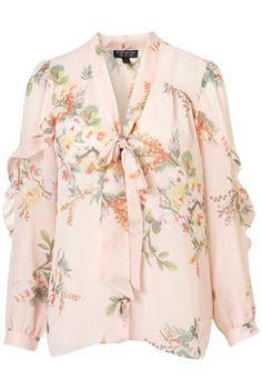 Willow Print Pussybow Blouse