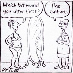I really love this cartoon. In order to change ideas and beliefs, we as a society need to try and change the culture surrounding these issues. However, there is certainly nothing easy about changing culture.