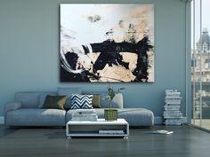"Sold: DANCE | 72""x60""x1.5"" by Los Angeles based contemporary artist Laura Letchinger. #graffitioncanvas #street #graffiti #urban #abstract #contemporaryabstract #oversized #interiordesign #design #industrial #wallart #painting #contemporaryart #large #art #contemporary #oversize #gritty #loft #modern #black #blue #contemporaryart #oversizedart"