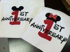 Custom Disney Anniversary shirt set any year by StitchThisCustom, $50.00
