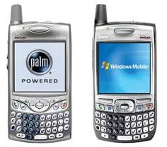 Palm treo 650...de los primero Smart Phones. El paso de la Palm V a celular .