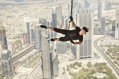 Fun Fact Friday: Tom Cruise performed the sequence where Ethan Hunt scales the outside of the Burj Khalifa tower WITHOUT the use of a stunt double.