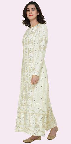 Ivory Chikankari And Kamdani Peshwa Floor Length Suit Designer Dress For Men, Indian Designer Wear, Designer Dresses, Indian Attire, Indian Wear, Indian Dresses, Indian Outfits, India Fashion, Latest Fashion