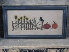 Our hand stitched Primitive Sampler - Autumn Garden is a great addition to your home this fall season.  http://www.primitivestarquiltshop.com/Primitive-Sampler--Autumn-Garden_p_7303.html