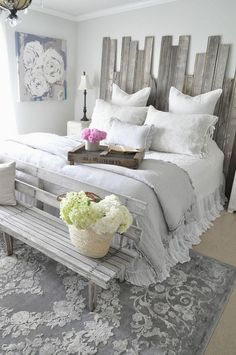 Internal Home Design: rustic shabby chic bedroom decor - Modern Farmhouse Master Bedroom, Master Bedroom Design, Home Decor Bedroom, Bedroom Furniture, Bedroom Designs, Furniture Design, Cozy Master Bedroom Ideas, Master Suite, Bedroom Chair